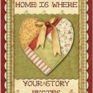 Primitive Country Folk Art Kitchen Refrigerator Magnet - Home is Where ...