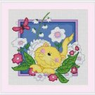 Cross-Stitch Embroidery Color Pattern DMC thread codes- Yellow Kitten