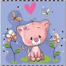 Beautiful Decor Design Collectible Kitchen Fridge Magnet - Cute Little Cat #3