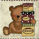 Beautiful Decor Design Collectible Kitchen Fridge Magnet - Country Teddy Bear #2