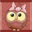 Beautiful Decor Design Collectible Kitchen Fridge Magnet - Cute Little Owl #3