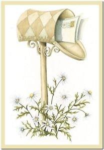 Beautiful Cute Decor Collectible Kitchen Fridge Magnet -Pretty Mailbox & Letters
