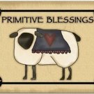 Primitive Country Folk Art Kitchen Refrigerator Magnet - Primitive Blessings