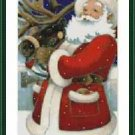Cross-Stitch Embroidery Color Pattern with DMC thread codes - Santa is Coming
