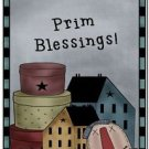 Primitive Country Folk Art Kitchen Refrigerator Magnet - Prim Blessings