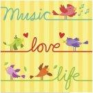 Beautiful Cute Decor Collectible Kitchen Fridge Magnet - Music, Love, Life