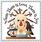 Primitive Country Folk Art Kitchen Refrigerator Magnet - There is Love...