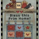 Primitive Country Folk Art Kitchen Refrigerator Magnet - Bless This Prim Home
