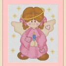 Cross-Stitch Embroidery Color Digital Pattern w. DMC codes - Patchwork Angel