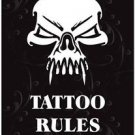 Beautiful Decor Collectible Kitchen Fridge Magnet - Tattoo Rules Skull Design