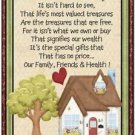 Primitive Country Folk Art Kitchen Refrigerator Magnet - We Count Our Blessings