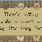 Beautiful Cute Decor Design Collectible Kitchen Fridge Magnet - Little Baby Feet