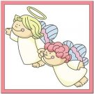 Beautiful Cute Decor Design Collectible Kitchen Fridge Magnet ~ Angel Sisters