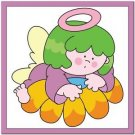 Beautiful Cute Decor Design Collectible Kitchen Fridge Magnet -Angel on Flower