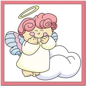 Beautiful Cute Decor Design Collectible Kitchen Fridge Magnet ~ Gigling Angel