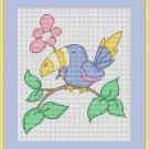 Cross-Stitch Embroidery Color Pattern with DMC codes - Sweet Tucan #2