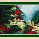 Cross-Stitch Embroidery Color Pattern with DMC thread codes - Bridge to Elysian