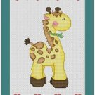 Cross-Stitch Embroidery Color Pattern DMC thread codes- Baby Toy Giraffe