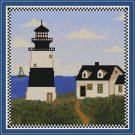 Cross-Stitch Embroidery Color Pattern with DMC codes - Summer Lighthouse #2