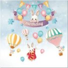 Beautiful Cute Decor Collectible Kitchen Fridge Magnet - Happy Birthday Bunnies