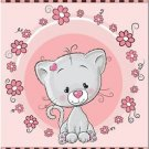Beautiful Decor Design Collectible Kitchen Fridge Magnet - Cute Little Cat #2