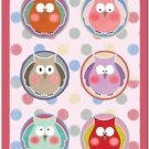 Beautiful Fun Decor Design Collectible Kitchen Fridge Magnet - Polka Dot Owls