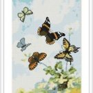 Cross-Stitch Embroidery Color Digital Pattern w. DMC codes - Butterfly Dance