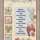 Primitive Country Folk Art Kitchen Refrigerator Magnet - Happiness Keeps You...