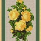 Cross-Stitch Embroidery Color Pattern with DMC codes -Yellow Roses #2