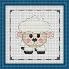Cross-Stitch Embroidery Color Pattern with DMC codes - Cute Baby Sheep