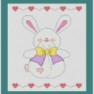 Cross-Stitch Embroidery Color Pattern with DMC codes -  Baby Toy Bunnny