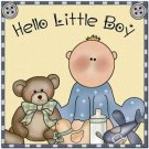 Beautiful Cute Decor Design Collectible Kitchen Fridge Magnet - Hello Little Boy