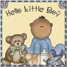 Beautiful Cute Decor Design Collectible Kitchen Fridge Magnet ~ Hello Little Boy
