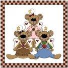 Beautiful Cute Decor Collectible Kitchen Fridge Magnet - Angel Bear Family
