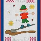 Cross-Stitch Embroidery Color Pattern with DMC codes - Albert the Garden Elf #2