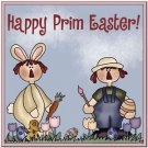 Cute Easter Collectible Kitchen Fridge Refrigerator Magnet - Happy Prim Easter