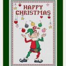 Cross-Stitch Embroidery Color Pattern with DMC thread codes - Happy Christmas #2