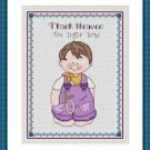 Cross-Stitch Embroidery Color Digital Pattern w. DMC codes - Thank Heaven #4