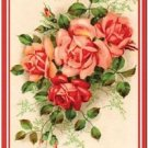 Primitive Country Folk Art Kitchen Refrigerator Magnet - Victorian Pink Roses