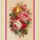 Cross-Stitch Embroidery Color PATTERN DMC thread codes -Victorian Garden Bouquet