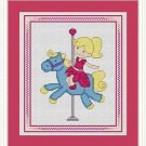 Cross-Stitch Embroidery Color Pattern with DMC codes - Cute Carousel #3