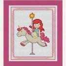 Cross-Stitch Embroidery Color Pattern with DMC codes - Cute Carousel #4