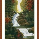 Cross-Stitch Embroidery Color Pattern with DMC thread codes - Silver Waterfall