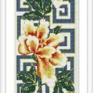 Cross-Stitch Embroidery Color Pattern with DMC codes - Japanise Flowers