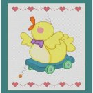 Cross-Stitch Embroidery Color Pattern with DMC codes -  Baby Toy Duck