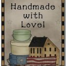 Primitive Country Folk Art Kitchen Refrigerator Magnet - Handmade with Love