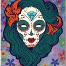 Decor Collectible Kitchen Fridge Magnet - Flower Sugar Skull Girl