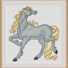 Cross-Stitch Embroidery Color Pattern with DMC codes - Beautiful Horse