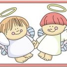 Beautiful Cute Decor Design Collectible Kitchen Fridge Magnet - Angel Friends