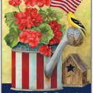 Primitive Country Folk Art Kitchen Refrigerator Magnet - God Bless America #2